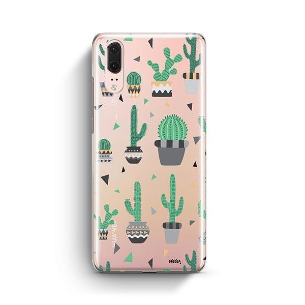Cactus Party Huawei P20 Case Clear