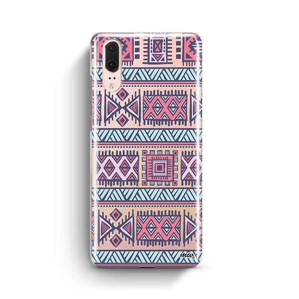 Colored Aztec Huawei P20 Case Clear