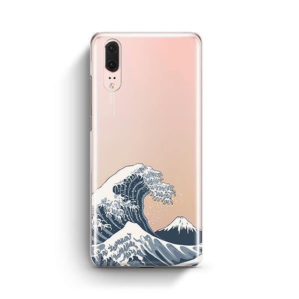 Japanese Wave Huawei P20 Case Clear