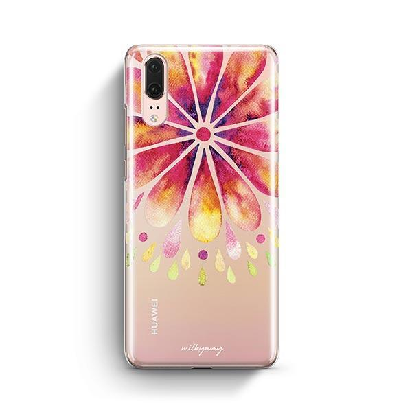 Mandala Drops Huawei P20 Case Clear