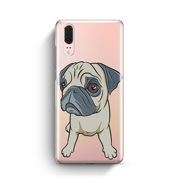 Full Pug - Huawei P20 Clear Case