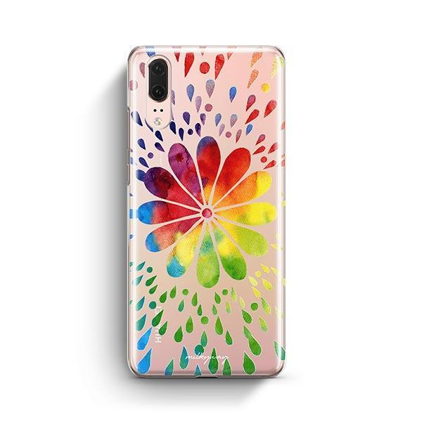Rainbow Mandala Huawei P20 Case Clear