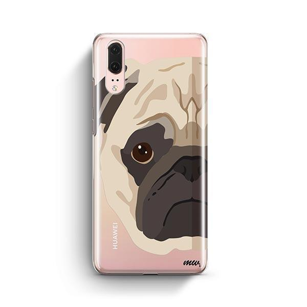 The Pug Case - Huawei P20 Clear Case