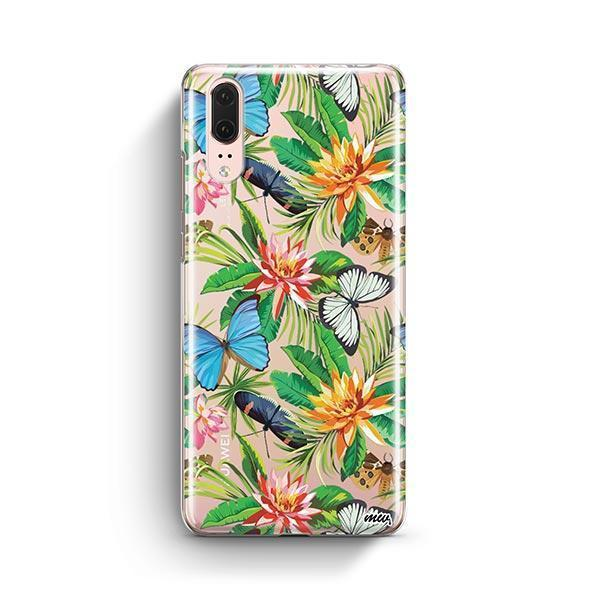 Tropical Butterfly Huawei P20 Case Clear