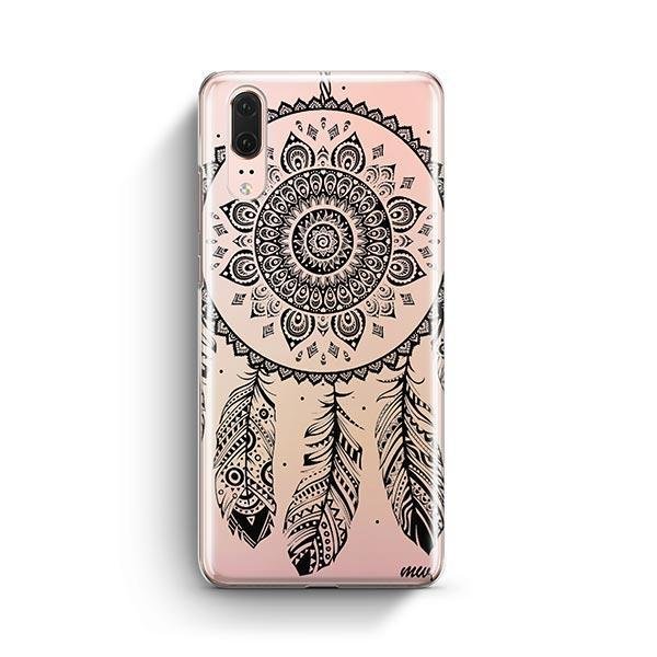 Black Henna Ojibwe Huawei P20 Case Clear