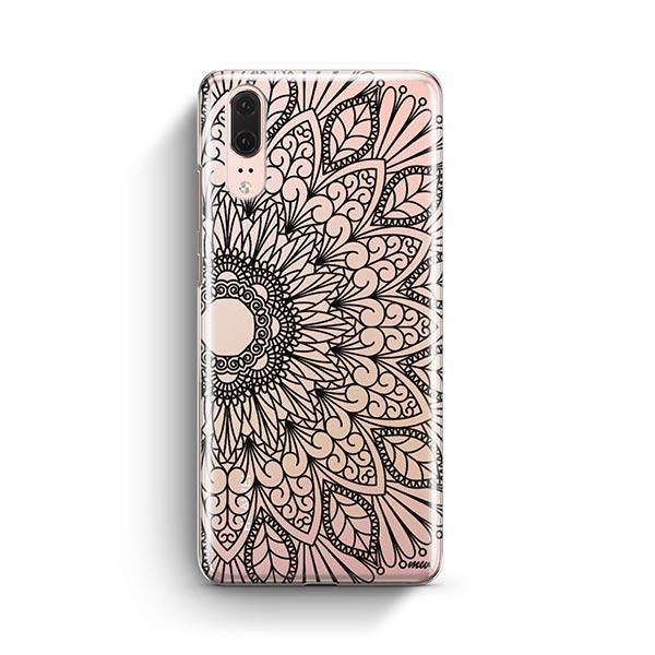 Black Mandala Huawei P20 Case Clear