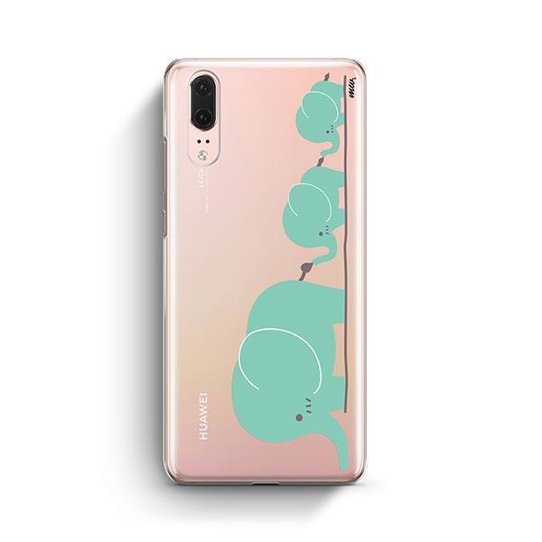 Elephant Family - Huawei P20 Case Clear