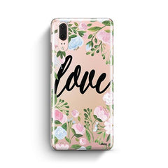 Floral Love Huawei P20 Case Clear