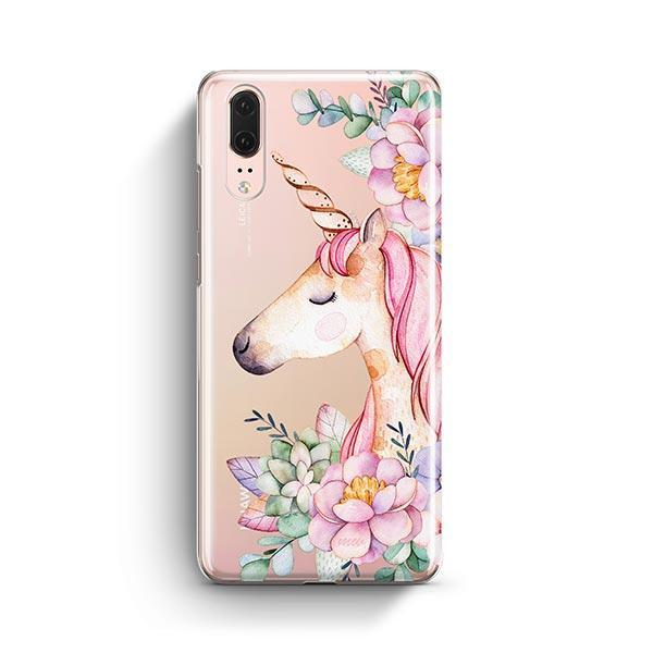 Floral Unicorn Huawei P20 Case Clear