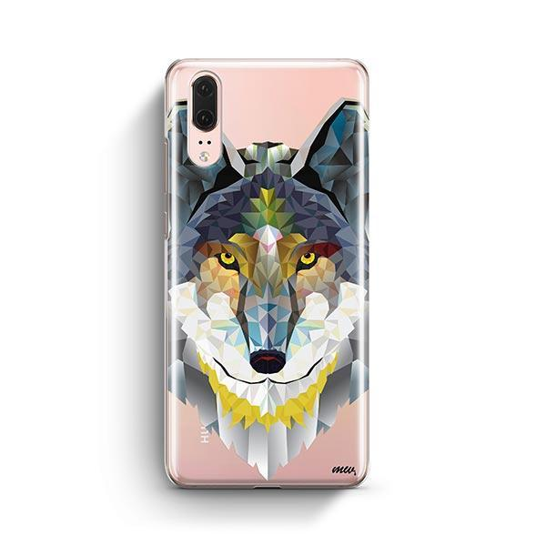 Geometric Wolf - Huawei P20 Case Clear