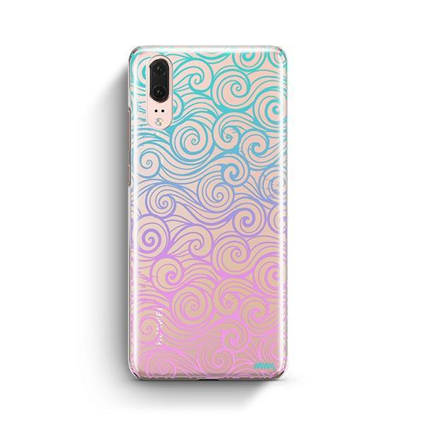 Gradient Wave Huawei P20 Case Clear