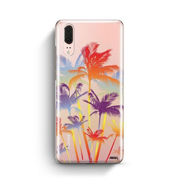 Hipster Palm Tree Huawei P20 Case Clear