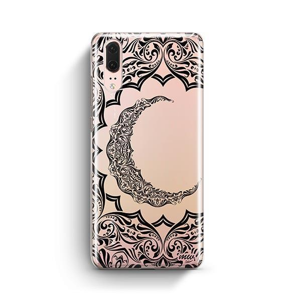Crescent Moon Henna Huawei P20 Case Clear