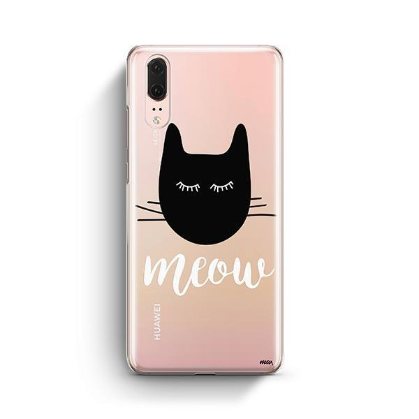Meow - Huawei P20 Clear Case