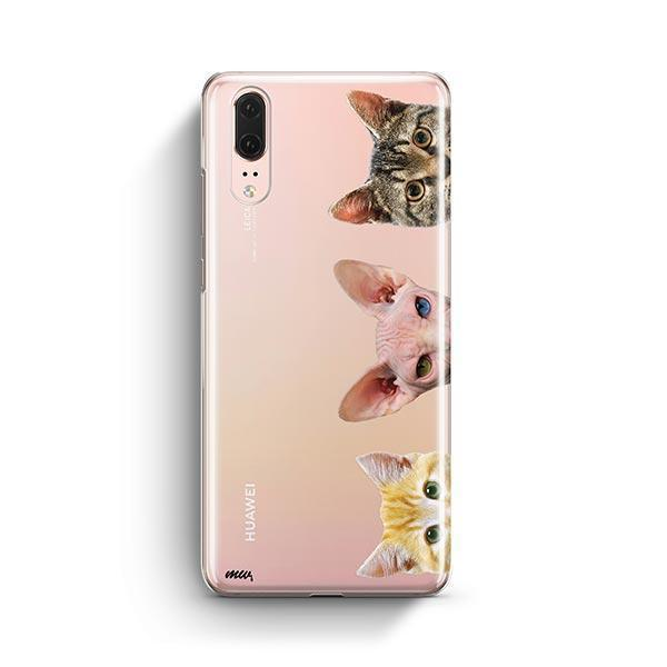 Peeking Cats - Huawei P20 Clear Case