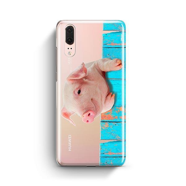 Pig on a Fence - Huawei P20 Case Clear