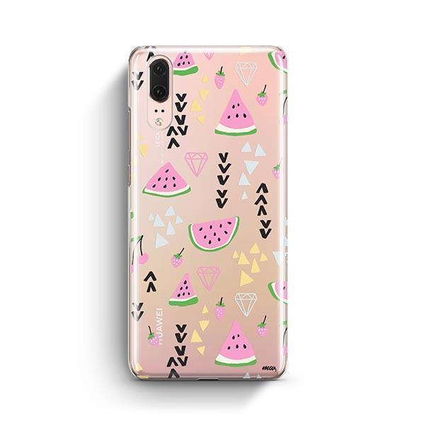 Pink Party Huawei P20 Case Clear