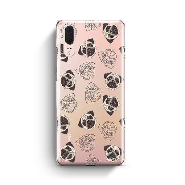Pug Overload - Huawei P20 Clear Case