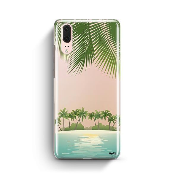 Tropical Beach Huawei P20 Case Clear