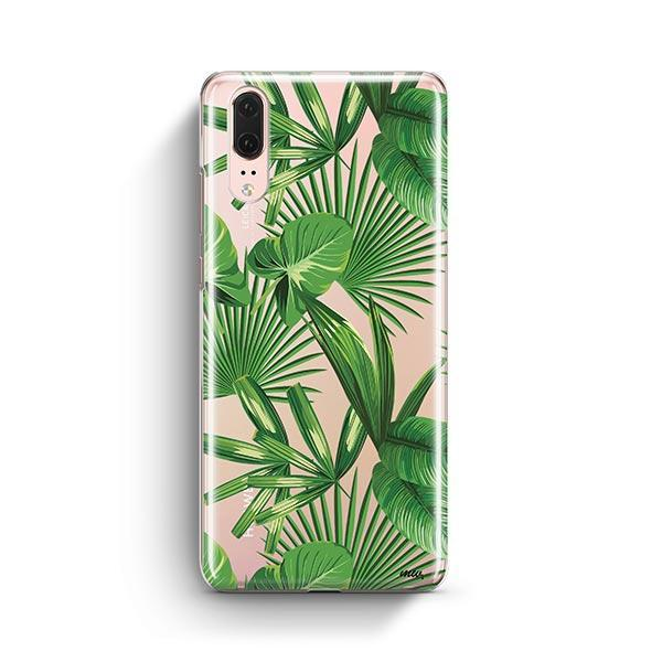 Tropical Palm Leaves Huawei P20 Case Clear