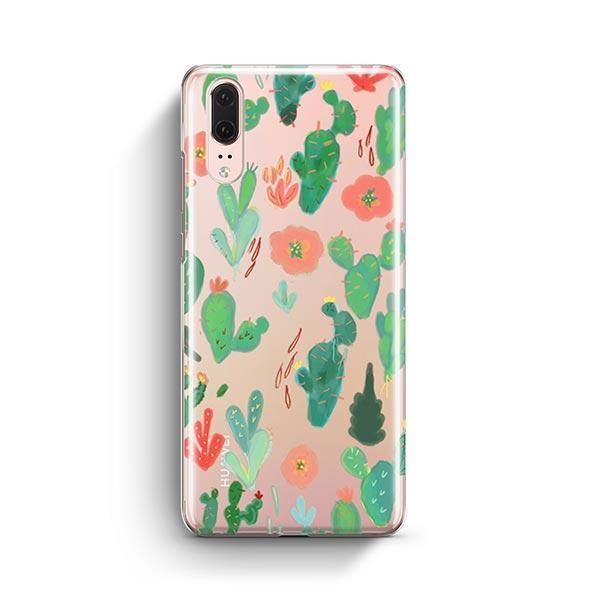 Watercolor Cactus Huawei P20 Case Clear