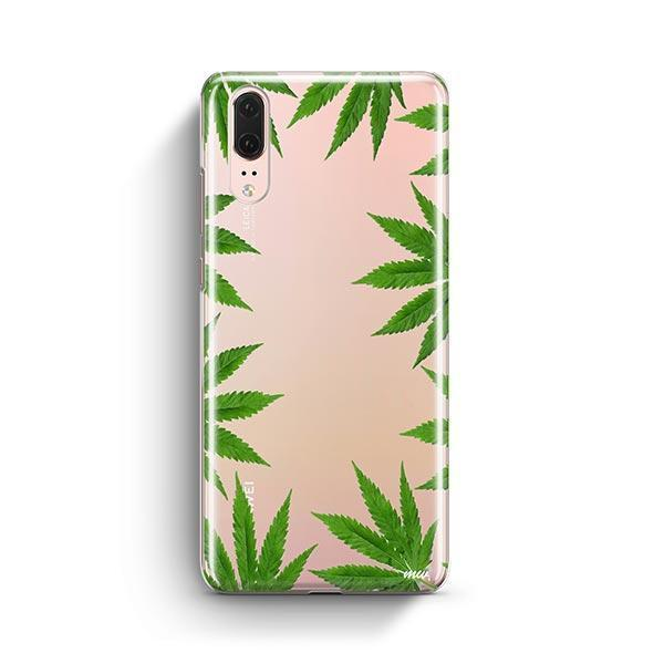 Weed Frame Huawei P20 Case Clear