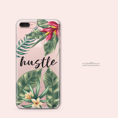 Tropic Hustle' - Clear Case Cover - Milkyway Cases -  iPhone - Samsung - Clear Cut Silicone Phone Case Cover