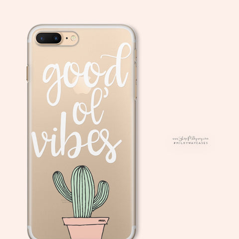 'Good ol' Vibes' - Clear TPU Case Cover