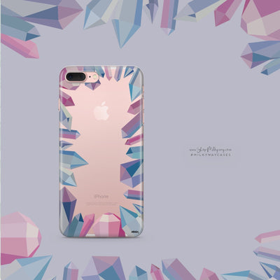 Aura' (@milkywaycases x @okitssteph) - Clear Case Cover - Milkyway Cases -  iPhone - Samsung - Clear Cut Silicone Phone Case Cover