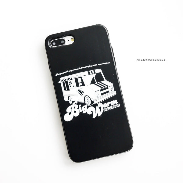 Black Bamboo - Faizon Love 'Big Worm Ice Cream' - Milkyway Cases -  iPhone - Samsung - Clear Cut Silicone Phone Case Cover
