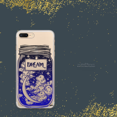 Blue Dream' - Clear Case Cover - Milkyway Cases -  iPhone - Samsung - Clear Cut Silicone Phone Case Cover