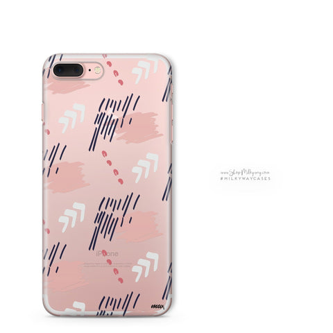 'Abstract One' - Clear TPU Case Cover