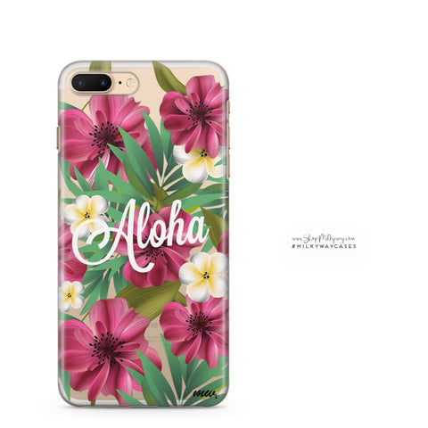 'Aloha 2.0' - Clear TPU Case Cover