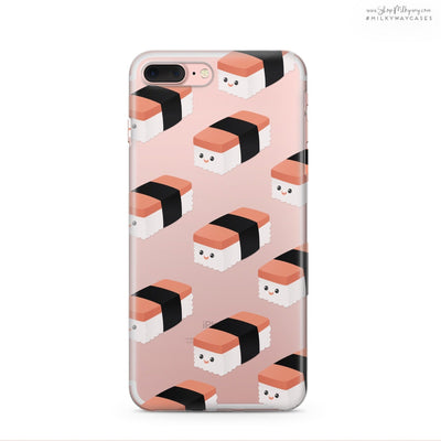 Spam Musubi - Clear Case Cover - Milkyway Cases -  iPhone - Samsung - Clear Cut Silicone Phone Case Cover
