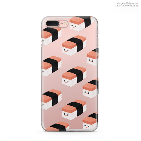 'Spam Musubi' - Clear TPU Case Cover