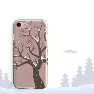 Winter Tree - Clear Case Cover - Milkyway Cases -  iPhone - Samsung - Clear Cut Silicone Phone Case Cover