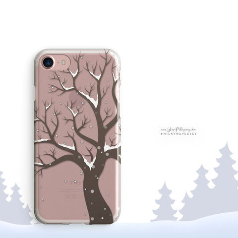 'Winter Tree' - Clear TPU Case Cover