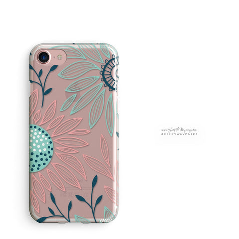 'Floral Patch' - Clear TPU Case Cover