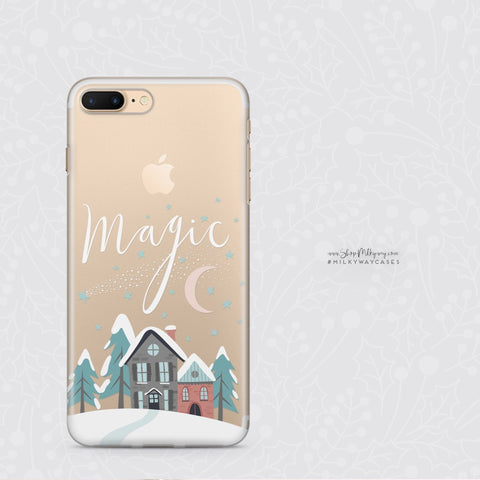 'Christmas Magic' - Clear TPU Case Cover