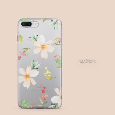 Meadow - Clear Case Cover - Milkyway Cases -  iPhone - Samsung - Clear Cut Silicone Phone Case Cover
