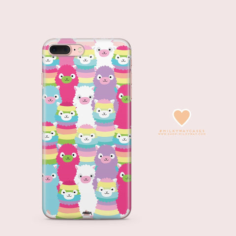 'Alpaca Squad' - Clear TPU Case Cover