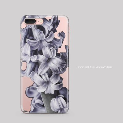 Hyacinth - Clear Case Cover - Milkyway Cases -  iPhone - Samsung - Clear Cut Silicone Phone Case Cover