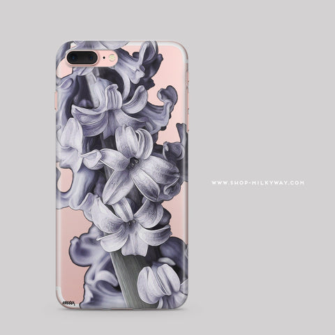 'Hyacinth' - Clear TPU Case Cover