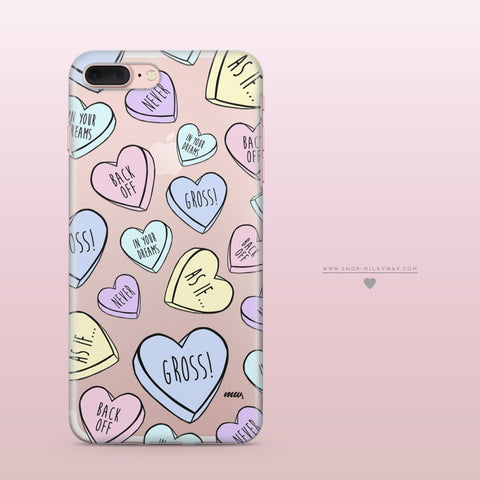 'Heartbreakers' (@okitssteph x @milkywaycases) - Clear TPU Case Cover