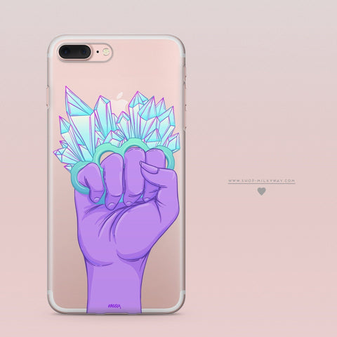 'Fight Like A Girl'  - Clear TPU Case Cover