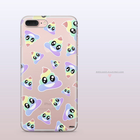 'Magical Poops'  - Clear TPU Case Cover