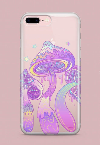 'Magic Mushroom'  - Clear TPU Case Cover