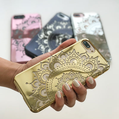 chrome hayley mandala iPhone case