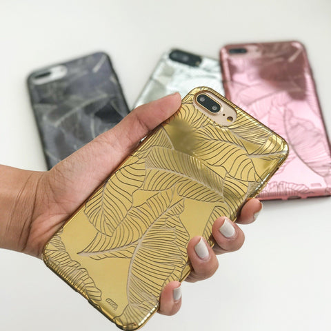 Chrome TPU Case - Banana Leaves
