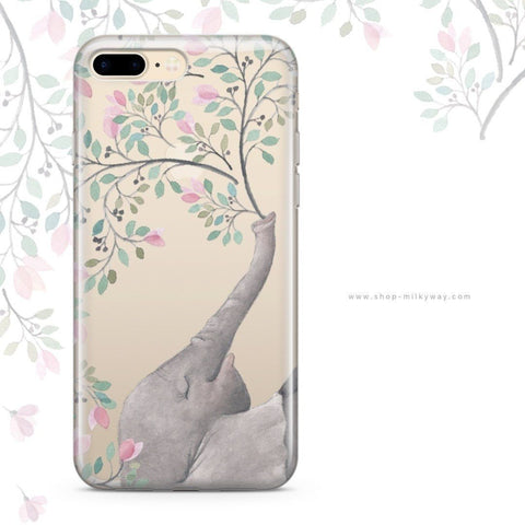 'Blowing Flowers' - Clear TPU Case Cover
